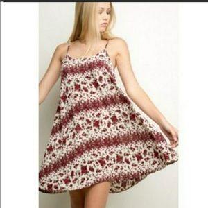 Brandy Melville Floral Rose Shift Dress